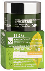 Акция на Омолаживающий выравнивающий крем для лица Белита-М Egcg Korean Green Tea Catechin для всех типов кожи 50 г (4813406008510) от Rozetka