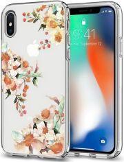Акция на Чехол Spigen для iPhone X Liquid Crystal Aquarelle Primrose от MOYO