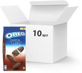 Упаковка печенья Oreo тонкого с какао и кремовой начинкой из какао 192 г х 10 шт (7622210627612) от Rozetka
