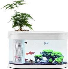 Аквариум Xiaomi Geometry Fish Tank Aquaponics Ecosystem 10 л White HF-JHYG001 (2001000011650) от Rozetka