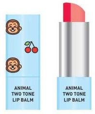 Двухцветный бальзам для губ Skin79 Animal Two-Tone Lip Balm Cherry Monkey 3.8 г (8809393404332) от Rozetka