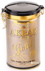 Чай черный листовой Akbar Gold  225 г в жестяной банке (5014176001223) от Rozetka