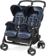 Акция на Коляска Peg-Perego Aria Shopper Twin Indigo Синяя (IP07280000GL51RO51) (8005475408988) от Rozetka