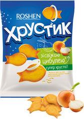Упаковка крекера Roshen Хрустик со свежим луком 180 г х 18 шт (4823077627101) от Rozetka