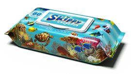 Влажные салфетки Skippy Aqua, 80 шт. от Pampik