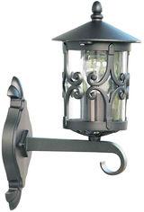 Акция на Настенный уличный светильник Lusterlicht 1761 Cordoba III матовый черный от Rozetka
