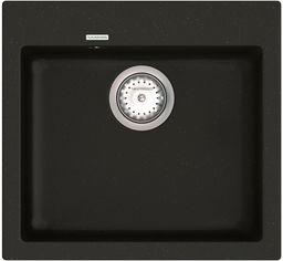 Кухонная мойка VANKOR Orman OMP 01.49 Black + сифон одинарный VANKOR Стандарт от Rozetka