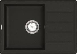 Кухонная мойка VANKOR Easy EMP 02.62 Black + сифон одинарный VANKOR Стандарт от Rozetka