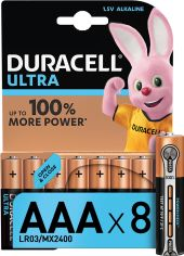 Щелочные батарейки Duracell Ultra Power AAA 1.5В LR03 8 шт (5000394063488) от Rozetka
