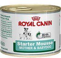 Влажный корм Royal Canin Starter Mousse для беременных собак и щенков всех пород 195 г (9003579311462) от Stylus