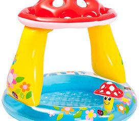 Акция на Детский надувной бассейн Intex 57114 Грибочек, 102 х 89 см от Stylus