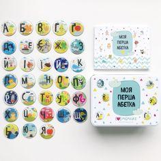 """Набор - алфавит Memiks """"Моя перша абетка"""", магнитные буквы, в подарок азбука, подарочная упаковка (укр.) от Stylus"""