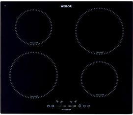 Акция на Варочная поверхность электрическая Weilor WIS 642 BLACK от Rozetka