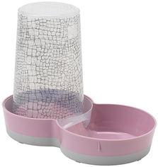 Автокормушка и автопоилка для собак Moderna Tasty Jumbo WildLife 2в1, пластик, дизайн Дикий Мир, 3.79 л, розовый от Stylus