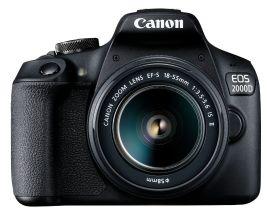 Акция на Фотоаппарат CANON EOS 2000D Black Kit 18-55 IS II (2728C008) от Eldorado