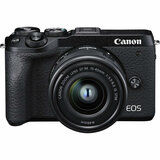 Фотоаппарат CANON EOS M6 Mark II Kit M15-45 IS STM + EVF Black (3611C053AA) от Foxtrot