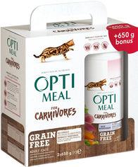 Упаковка сухого беззернового корма для взрослых кошек Optimeal с уткой и овощами 650 г 2 шт (4820215360920) от Rozetka