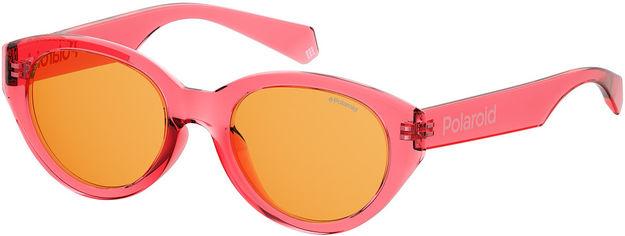 Акция на Женские солнцезащитные очки Polaroid с поляризационными ультралегкими линзами, овальные (P6051GS-35J52HE) от Stylus