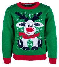 Акция на Джемпер Flash Рождество 19BG133-6-3900 110 см NY Зеленый (2222316718013) от Rozetka