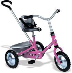 Детский металлический велосипед Smoby Zooky с багажником Розовый (454016) (3032164540167) от Rozetka