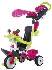 Велосипед детский Smoby Toys Беби Драйвер металлический с козырьком и багажником розовый (741201) (3032167412010) от Rozetka