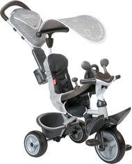 Акция на Детский металлический велосипед Smoby Toys Комфорт с козырьком и багажником (3032167412027) от Rozetka