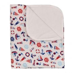 Многоразовая пеленка BabySoon Морячок, 80х70 см, белый (ПН-001) от Pampik