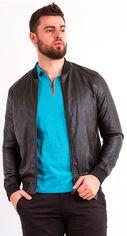 Акция на Куртка из искусственной кожи Remix 7831 2XL Черная (2950006250825) от Rozetka