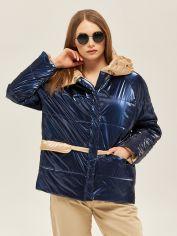 Куртка Mila Nova К-151 42 Синяя с бежевым (2000000045177) от Rozetka