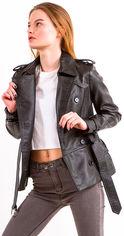 Акция на Куртка из искусственной кожи Remix 1871 S Черная (2950006442428) от Rozetka