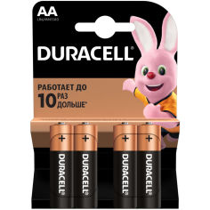 Батарейки DURACELL LR06 MN1500 (81545403) 1х4 шт. от Foxtrot
