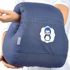 Акция на Подушка для кормления IDEIA Mini Горошек 28х30 см Темно-синяя (4820227280483) от Rozetka