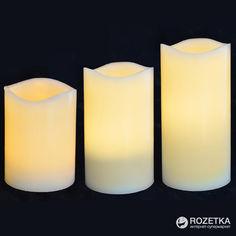 Набор восковых LED свечей для улицы Новогодько (YES! Fun) 3 шт. (710339)(5056137108763) от Rozetka