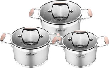 Набор посуды Maxmark Pro 6 предметов (MK-LX3206A) от Rozetka