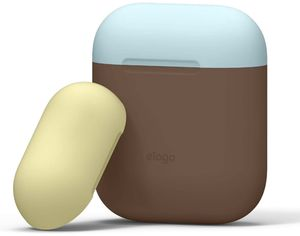 Акция на Чехол Elago Duo Case для AirPods Dark Brown/Pastel Blue/Yellow (EAPDO-DBR-YEPBL) от Rozetka