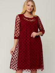 Платье All Posa Камелия 100034 60 Бордовое от Rozetka