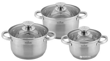 Набор посуды Maxmark 6 предметов (MK-3506F) от Rozetka