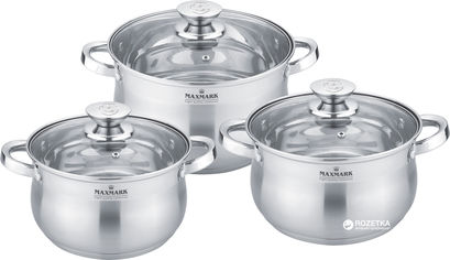 Набор посуды Maxmark из 6 предметов (MK-BL2506B) от Rozetka