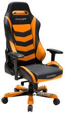 Кресло для геймеров DXRacer Iron OH/IS166/NO (чёрное/оранжевые вставки) (60410) от Rozetka