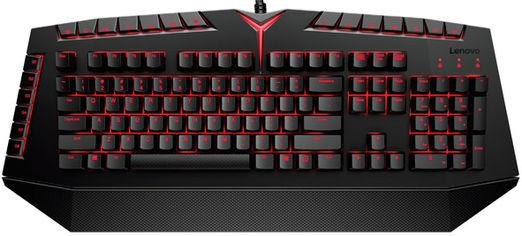 Клавиатура проводная Lenovo Y Mechanical Kailh Red USB Black (GX30L79771) от Rozetka