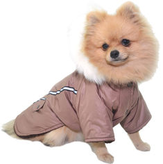 Курточка для маленьких собак Лори Осень йорк №2 34 см x 46 см Коричневая (О1027) от Rozetka