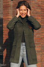 Оригинальное шерстяное пальто от Gepur
