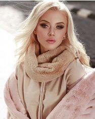 Теплый меховой шарф от Gepur
