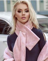 Оригинальный меховой шарф от Gepur