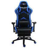 Кресло GT RACER X-2534-F Black/Blue от Foxtrot