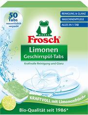 Таблетки для мытья посуды в посудомоечных машинах Frosch Лимон 50 шт х 20 г (4001499947315) от Rozetka
