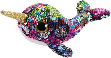 Акция на Мягкая игрушка TY Calypso Кит в пайетках Разноцветный 15 см (36675) (8421366750) от Rozetka
