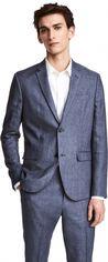 Пиджак H&M 03VTT90A 42 Голубой меланж (7000000005343) от Rozetka