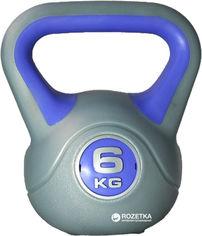 Гиря LiveUp Plastic Kettel Bell 6 кг Grey/Purple (LS2047-6) от Rozetka