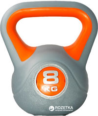 Гиря LiveUp Plastic Kettel Bell 8 кг Grey/Orange (LS2047-8) от Rozetka